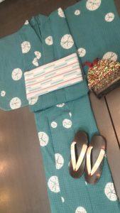 有松鳴海絞り浴衣コーデ1