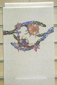 紋紗九寸名古屋_琉球紅型_¥98,000