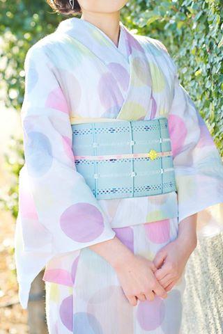 半巾帯シュシュ_ミント_¥25,000